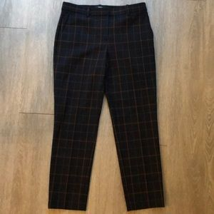Theory cropped checked pants